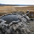 Shepherd Hot Spring lying amidst several hot water springs in the meadow.- Shepherd Hot Spring