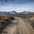 The spring lies down a series of dirt roads below the scenic Eastern Sierra.- Shepherd Hot Spring