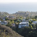 View west to Pacific Palisades and the Pacific Ocean from Temescal Ridge Trail.- Temescal Ridge Trail Hike