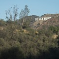 View of the Hollywood Sign from the East Observatory Trail.- Griffith Observatory Hike via East Observatory Trail