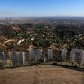 View over the Hollywood Sign accessed via the Hollyridge Trail.- Griffith Park