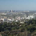 View west of Hollywood, Century City and Santa Monica from Griffith Park.- Griffith Park