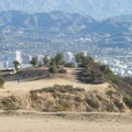 View of Glendale and San Gabriel Mountains from Mount Hollywood (1,625 ft).- Griffith Park