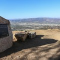 Cahuenga Peak plaque at the summit of Mount Lee (1,680 ft).- Griffith Park