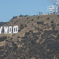 View of the Hollywood Sign and Mount Lee (1,680 ft).- Mount Hollywood Hike via Charlie Turner Trail
