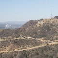 View of the Hollywood Sign, Mount Lee, and Cahuenga Peak (1,820 ft).- Mount Hollywood Hike via Charlie Turner Trail