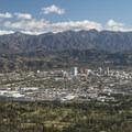 View of Glendale and the San Gabriel Mountains from Dante's View.- Mount Hollywood Hike via Charlie Turner Trail