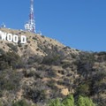 Hollywood Sign and Mount Lee radio station from Lake Hollywood Park.- Lake Hollywood Park