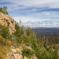 View east from the switchbacks.  - Bald Mountain via Bald Mountain Pass