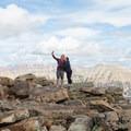 A couple getting a summit selfie.  - Bald Mountain via Bald Mountain Pass