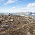 Summit cairn.  - Bald Mountain via Bald Mountain Pass