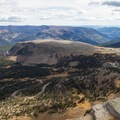 View of the Western Uintas and Mirror Lake Highway from the summit.  - Bald Mountain via Bald Mountain Pass