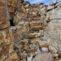 Massive stone steps near the top of Bald Mountain.  - Bald Mountain via Bald Mountain Pass