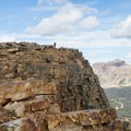 A hiker capturing a shot of the view from the top.  - Bald Mountain via Bald Mountain Pass