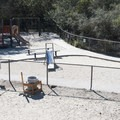 Playground and small dog area at Laurel Canyon Dog Park.- Laurel Canyon Dog Park