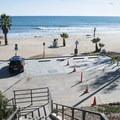 ADA-accessible parking at Topenga State Beach.- Topanga State Beach