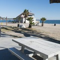 Day use picnic area at Topenga State Beach.- Topanga State Beach