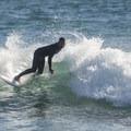 Surfer at Topenga State Beach.- Topanga State Beach