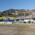 Playground, restroom facilities and Michael Landon Community Center at Malibu Bluffs Park.- Malibu Bluffs Park