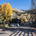 The trail starts at the end of South Pine Street, downtown Telluride.- Bear Creek Falls Hike