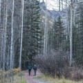 As the leaves fall, beautiful rocky peaks are revealed along the trail.- Bear Creek Falls Hike
