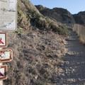Trailhead at Point Dume State Beach.- Point Dume State Beach