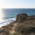 View looking west at Point Dume State Beach.- Point Dume State Beach