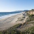 View northwest of Westward Beach from Point Dume.- Zuma Beach County Park + Westward Beach