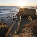 Sunset at El Matador State Beach.- El Matador State Beach