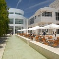 Courtyard pool at the Getty Center.- The Getty Center