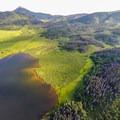 Bird's-eye view of the lake.- Pearl Lake