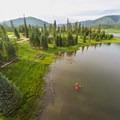 Kayaking at Pearl Lake.- Pearl Lake