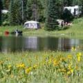 Camping by the lake.- Pearl Lake