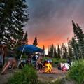 Camping sunset.- Pearl Lake
