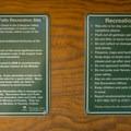 Information and site regulations.- Alexander Falls