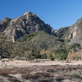 View of the Goat Buttes in Malibu Creek State Park.- Malibu Creek State Park