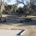 Typical campsite at Malibu Creek State Park Campground.- Malibu Creek State Park Campground