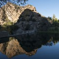 Century Lake, a reservoir that is accessed via a short spur trail.- M*A*S*H TV Set Hike
