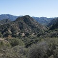 View east to the surrounding Santa Monica Mountains from the Chaparral Trail.- Chaparral Trail Loop Hike