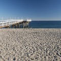 Old pier at Paradise Cove Beach.- Paradise Cove Beach + Cafe