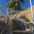 Stair access to Santa Monica State Beach from Palisades Park.- Palisades Park, Santa Monica
