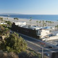 View of Santa Monica State Beach and Santa Monica Bay from Palisades Park.- Palisades Park, Santa Monica