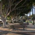 Picnic area at Palisades Park, Santa Monica.- Palisades Park, Santa Monica