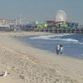 View of Santa Monica Pier from Santa Monica State Beach.- Santa Monica Pier