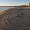 View north to Santa Monica State Beach from the Santa Monica Pier.- Santa Monica Pier