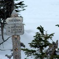Sign at The Loch. - The Loch Vale Snowshoe
