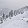 Ready for turns on the Newton Clark Moraine.- Newton Clark Moraine (Ridge Between) Backcountry Ski
