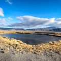 One of two adjacent ponds heated by the springs at Fish Lake Valley Hot Well.- Fish Lake Valley Hot Well
