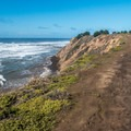 The waves can be huge below Pillar Point.- Pillar Point Bluffs Hike