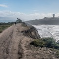 Walking above Mavericks Beach.- Pillar Point Bluffs Hike